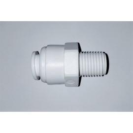 """Conector rápido lineal rosca macho 1/4 """" a tubo 1/4"""""""