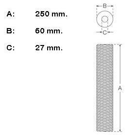 medidas del filtro de hilo 50 micras